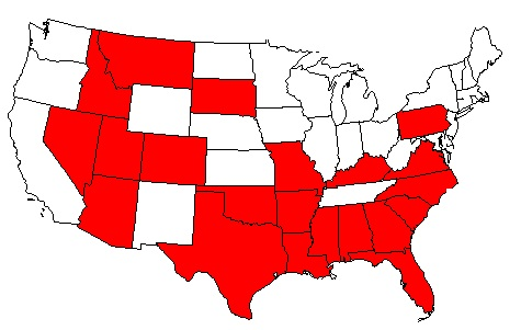 Death Penalty - Us states with death penalty map